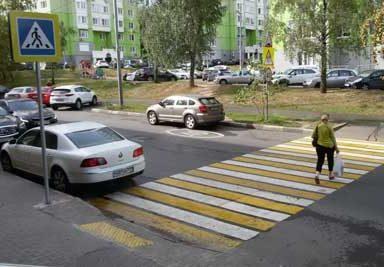 Штраф за нарушение правил остановки и парковки перед пешеходным переходом