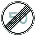 Знак 3.25 - Конец ограничения максимальной скорости